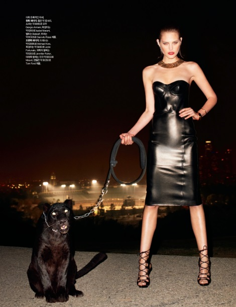 Catherine McNeil and Panther