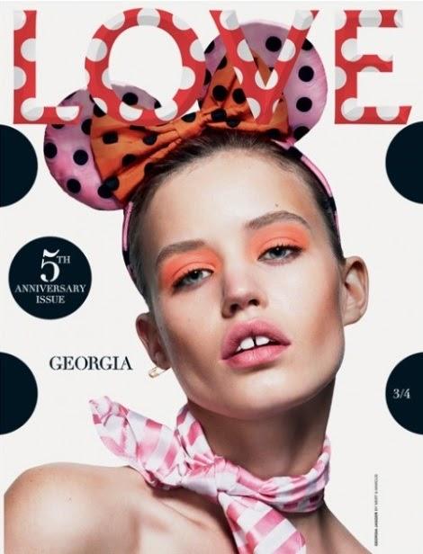 Georgia May Jagger Disney Love Magazine Cover