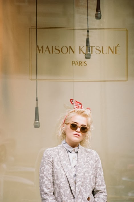 Sky Ferreira for Maison Kitsune Spring 2014 Campaign